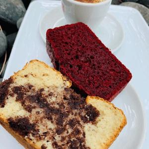 Bakery - Vanilla Chocolate Brownie and Red Velvet Brownie with Espresso Café