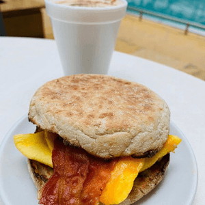 Breakfast - Penny Deal - English Muffin with Coffee