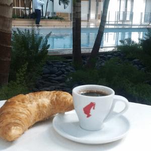 Breakfast - Plain Croissant and Espresso Coffee