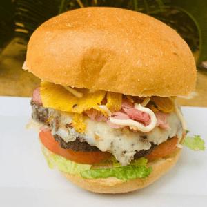 Lunch Hawaiian Burger