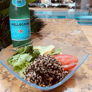 Lunch - Quinoa Salad with Sparking Water