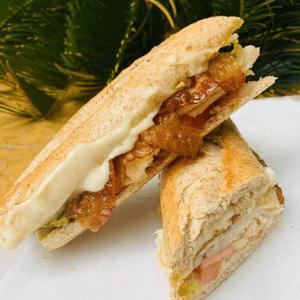 Lunch Sandwich Turkey Bacon and Mozzarella Cheese
